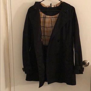 Black H&M trench coat